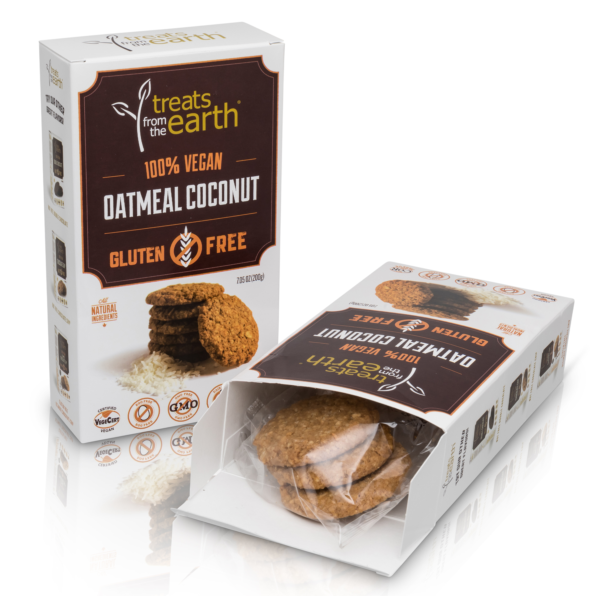 834633000935 - TFTE Gluten Free Oatmeal Coconut Cookie Box 200g