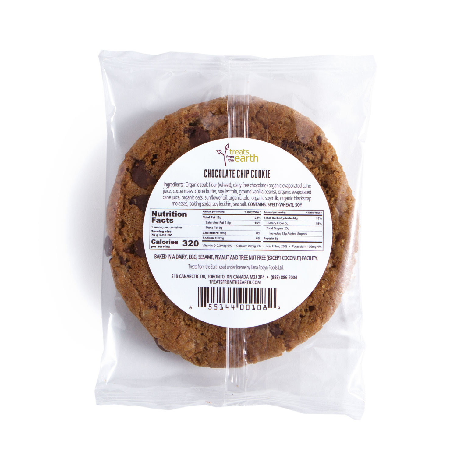 TFTE - NF Chocolate Chip Cookie back label