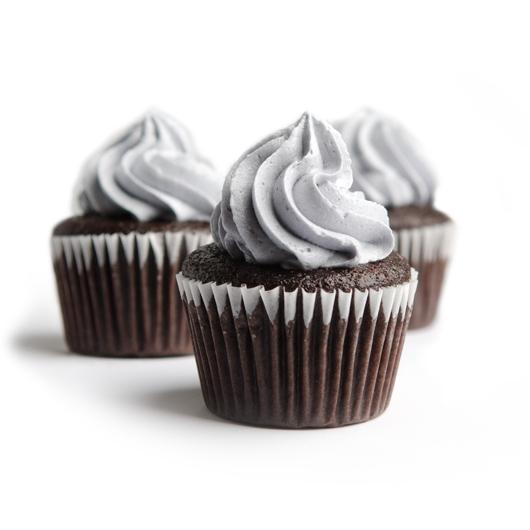 NF Chocolate lavender cupcakes trio