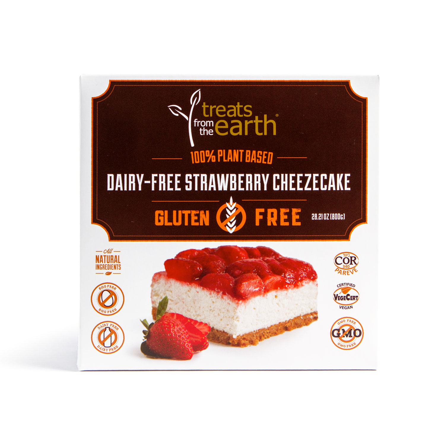 Gluten Free & Dairy Free Strawberry Cheezecake